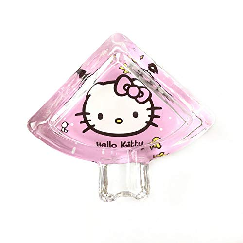 - YOURNELO Creative Hello Kitty Tower Facial Makeup Glass Cigarette Ashtray Holder for Home (Hello Kitty)