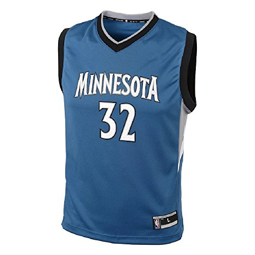 OuterStuff Karl-Anthony Towns Minnesota Timberwolves NBA Youth Blue Road Replica Jersey (Youth Small 8)