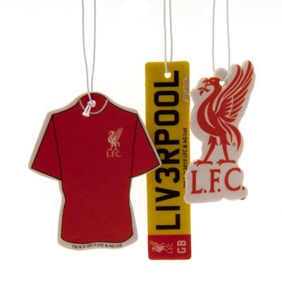 Official Liverpool FC Car Air Freshener (3 Pack) - A Great Gift / Present For Men, Sons, Husbands, Dads, Boyfriends For Christmas, Birthdays, Fathers Day, Valentines Day, Anniversaries Or Just As A Treat For Any Avid Football Fan ONTRAD Limited