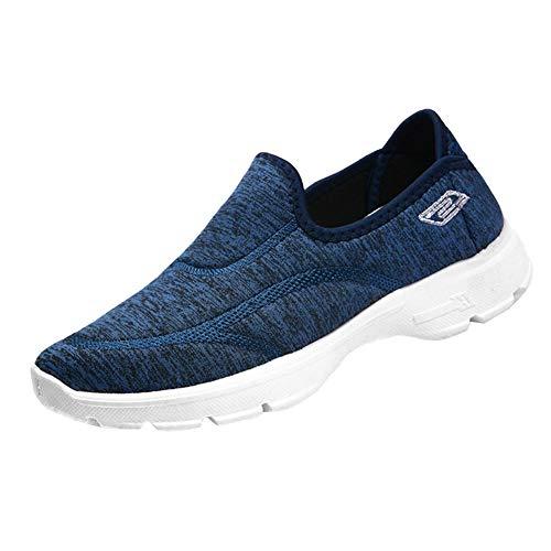 Turismo Traspirante Mode Casual Signore Blue Leggero Scarpe Slip Donne Yudesun Abbigliamento On Comfortable Atletico qZEv5
