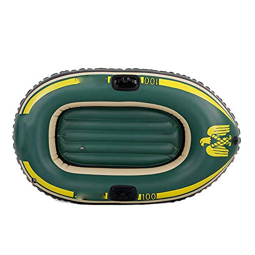LMDK 1-Person Inflatable Boat Set with French Oars and Mini Air Pump