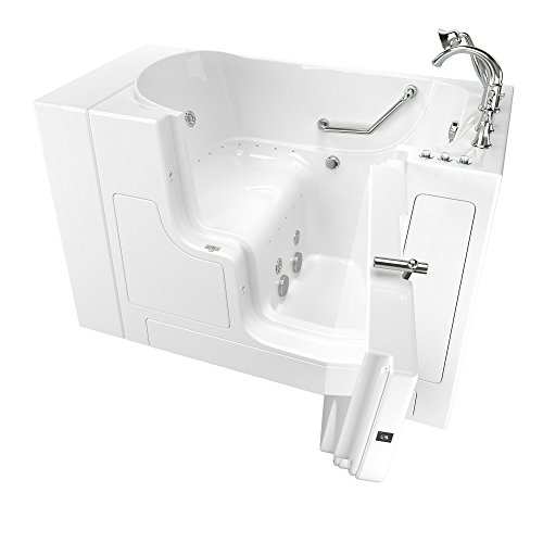 "American Standard 30""x52"" Right Hand Outward Opening Door Value Series Walk in Combo Whirlpool and Air Spa in White"