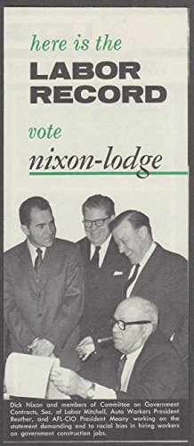 Labor Record for Nixon Lodge Presidential Ticket campaign folder ()