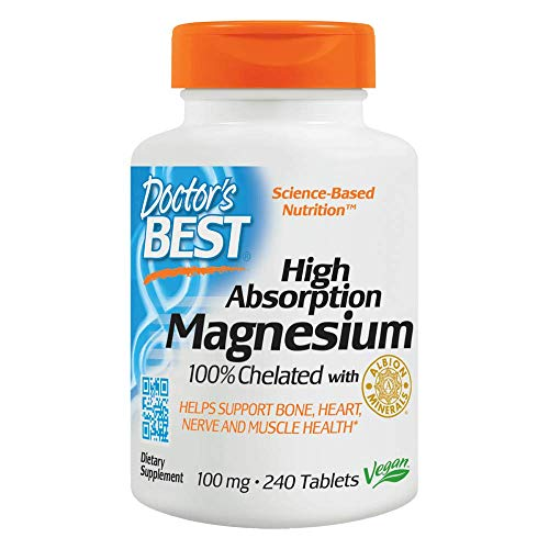 Doctor's Best High Absorption Chelated Magnesium - 240 Tablets