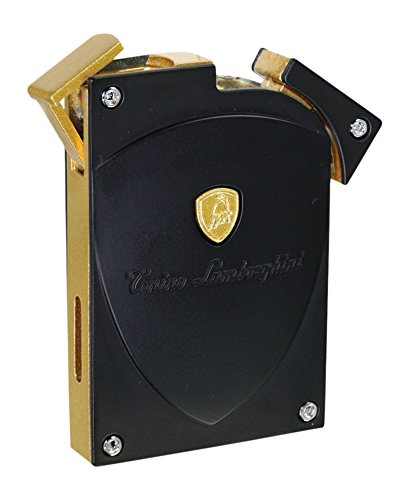 - Tonino Lamborghini Men Lynx Matte Torch Flame Lighter, Black/Gold