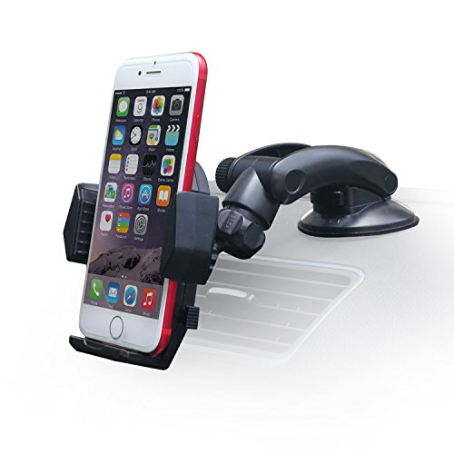 Dashboard Phone Mount [Ultimate Flexible], APPS2Car Car Sticky Dash Mount Windshiled Cell Phone Holder Suction Cup Mobile Phone Mount for iPhone, Samsung Phone, Nexus Phone, OnePlus, Android ()