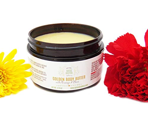 - Golden Body Butter - Essential Oils, Dry Skin, Sensitive Skin, Hands, Baby Bottom, Elbows, Knees, Heels, Feet, Cracks, Lips