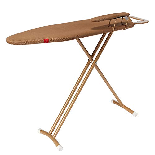 TMY Large Foldable Retractable Ironing Board, Multi-Functional Sleeve Ironing Board, Brown 12298cm (Color : - Quiet Ironing Board