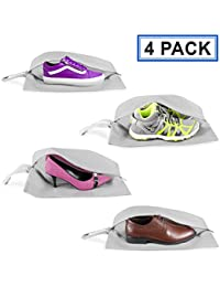 Travel Shoe Bags (2 and 4 Pack) Zipper Shoe Bags for Travel for Men Women