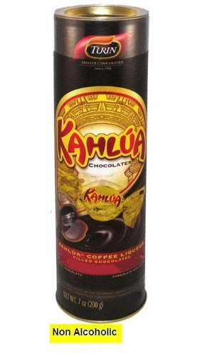 (Kahlua flavored non alcoholic chocolates in a tube, 7)