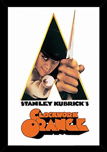 A Clockwork Orange-Knife Poster in a Black Poster Frame 24 x