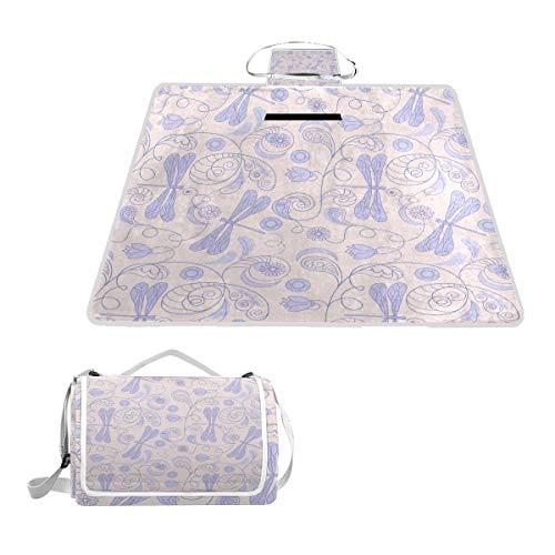 (Horatiood Huberyyd Dragonfly Purple Fountain Epoch Large Perfect Front Door Outdoor Moisturizing Travel Pad Handbag Waterproof Picnic Mat)