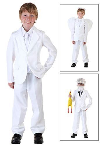 Big Boys' White Suit Costume -