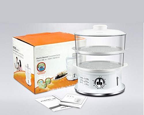 Lampe à moustiquaire, 900W Chauffage Rapide Électrique Vapeur Alimentaire Vapeur 6 L Légumes Viande Vapeur Vapeur Pas BPA 2 Couches Panier Empilable