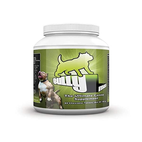 Bully Max Muscle Supplements for Dogs - Protein for Dogs to Build Muscle, Mass, Dog Weight Gain Supplement for Your Pitbull Puppy & Adult Dog - Dog Supplement for American Bully 1