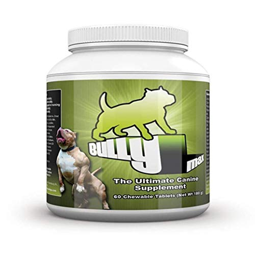 Bully Max Muscle Supplements for Dogs – Protein for Dogs to Build Muscle, Mass, Dog Weight Gain Supplement for Your Pitbull Puppy Adult Dog – Dog Supplement for American Bully