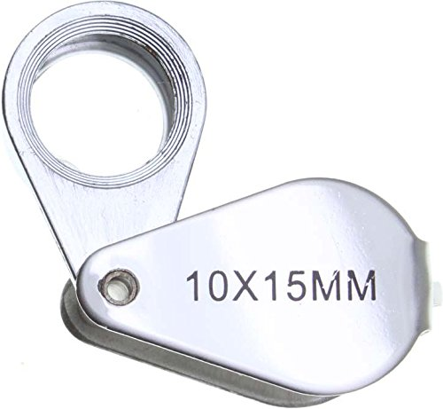 SE MJ381221C 10 x 15 mm Metal Body Jewelers Loupe, Chrome Plated - Chrome Metal Body
