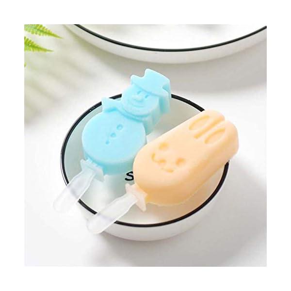 AISE Stampo per Gelato in Silicone con Coperchio, Stampo Riutilizzabile per Cubetti di Ghiaccio, Stampo per Gelatina per… 4 spesavip