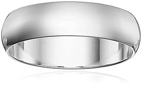 Classic Fit 14K White Gold Band, 6mm, Size 8.5 (6 Mm White Gold Band)