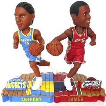 Forever Collectibles LeBron James & Carmello Anthony Bobble Mate