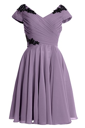 Formal of Cocktail Short Cap MACloth Elegant Gown Sleeve Wisteria Bride Mother Dress SqXazOxw