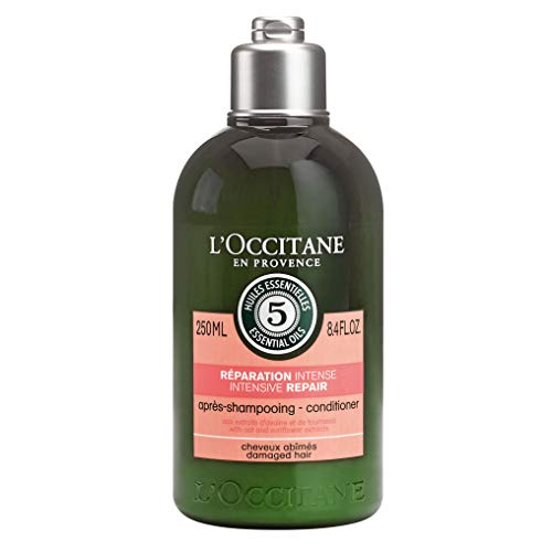 L'Occitane Aromachologie Intensive Repair Conditioner Enriched with 5 Essential Oils for Dry and Damaged Hair, 8.4 fl. oz. (Hair Damaged Loccitane Shampoo)
