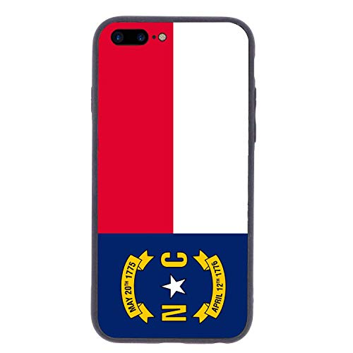 CHUFZSD North Carolina State Flag iPhone 7/8 Plus Case Soft Flexible TPU Anti Scratch Shock-Proof Protective Shell Compatible Phone Case Cover (5.5 Inch)