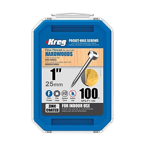 Kreg Pocket-Hole Screw No.6x1  #2 Square 100 Count