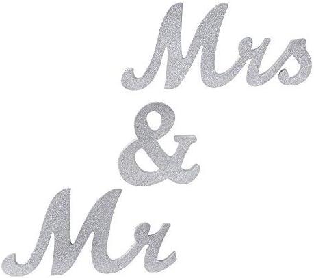 f/ür Hochzeit Vintage-Design Tischdekoration Dekoration Amajoy HolzbuchstabenMr /& Mrs