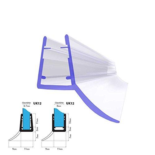 100cm UK12 -- Joint d'étanchéité de rechange pour verre de douche d'épaisseur 5mm/ 6mm/ 7mm/ 8mm protection surtensions de cabine de douche
