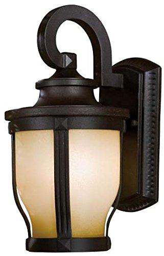 Minka Lavery Outdoor Wall Light 8761-166-PL Merrimack Exterior Wall Lantern, 13w Fluorescent, Bronze -