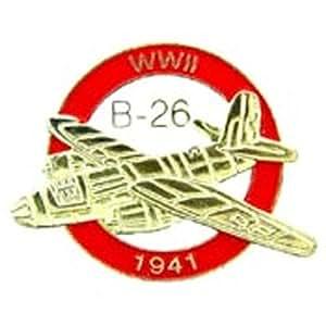 """B-26 Logo Airplane Pin 1"""""""