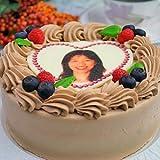 ロイヤルガストロ プリントデコレーション ケーキ チョコレート クリーム 味 5号サイズ 写真ケーキ