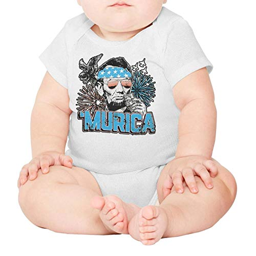 PoPBelle Murica Abe Lincoln Memorial Day Baby Onesie, used for sale  Delivered anywhere in Canada