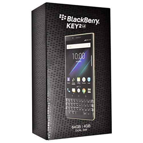 BlackBerry KEY2 LE (Lite) Dual-SIM (64GB, BBE100-4, QWERTY Keypad) (GSM Only, No CDMA) Factory Unlocked 4G Smartphone (Champagne/Gold) - International Version