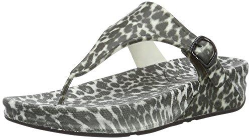 Aperta Multicolore Black Donna Leopard FitFlop Sandali Superjelly White Punta qISBSx
