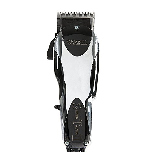 Wahl Professional Super Taper II Hair Clipper #8470-500 - Ultra-Powerful Full Size Clipper - V5000 Electromagnetic Motor - Includes 8 Attachment Combs