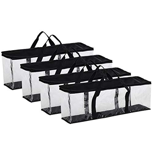 Globalis Portable DVD Storage Bag, 4-Pack Stores 40 DVDs Each Bag