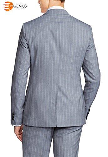 2 Genius Gray High e Strip Suit Piece Gray Kandel Qoulity YxppwHd