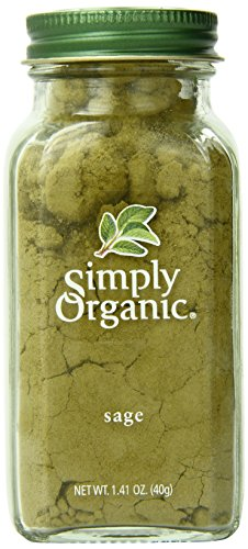 Simply Organic Ground Sage (Simply Organic Sage Leaf Ground Certified Organic, 1.41-Ounce Container)