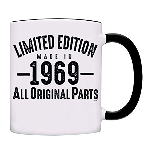 Mug 1969-50th Birthday Gifts Limited Edition Made In 1969 All Original Parts Coffee Mug-1969-0072-Black -