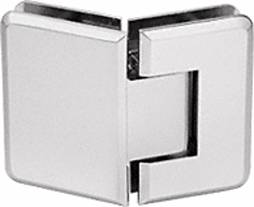 Satin Chrome 135 Glass - CRL Pinnacle 345 Series Satin Chrome Adjustable 135° Glass-to-Glass Hinge