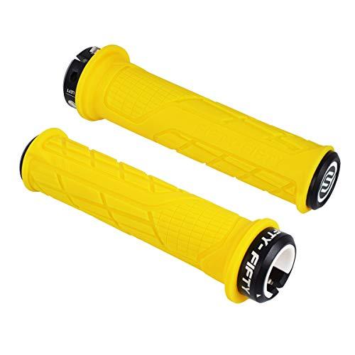 FIFTY-FIFTY Single Lock-on Mountain Bike Grips(Yellow)