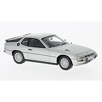 Porsche 924 Turbo , silver, 1979, Model Car, Ready-made, Spark 1:43