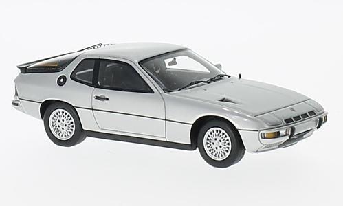 Porsche 924 Turbo , silver, 1979, Model Car, Ready-made, Spark 1:43