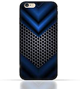 Apple iPhone7 TPU Silicone Case with Abstract Blue Mesh Pattern