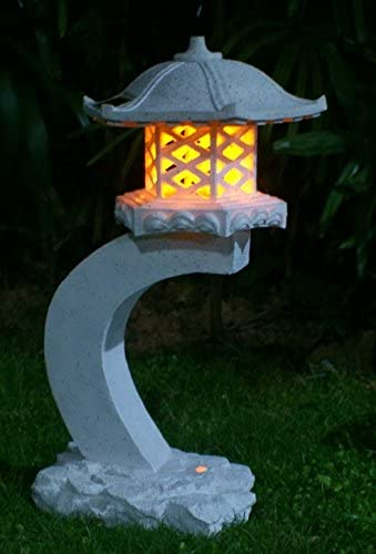 Ebros Gift Ferocious Dark Beacon Dragon Guardian of Styx Castle Gate Statue with Solar LED Light Patio Pathways and Indoor Night Light