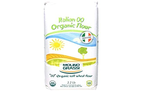 Molino Grassi USDA Organic Italian ''00'' Soft Wheat Flour, 2.2 lbs (Pack of 2) by Molino Grassi