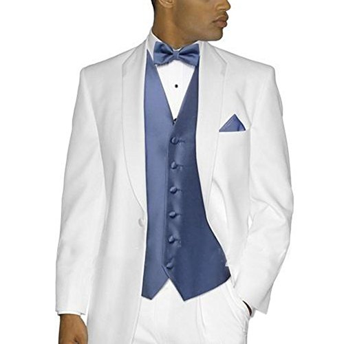 CMDC Men's Church Wedding Ceremony Suit Three-piece Suit D184£¨White,48 Long£© by CMDC
