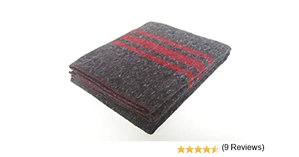 Sanz Marti - Mantas Mudanzas 140x200 gruesas Fabricadas en España - pack 2 mantas - roja